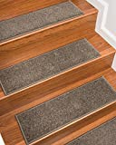NaturalAreaRugs Kenwood Polypropylene Carpet Stair Treads Brown, 9'' x 29'' Set of 13