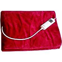 MESA LIVING Couverture chauffante électrique | Rouge | Ultra Douce et Confortable