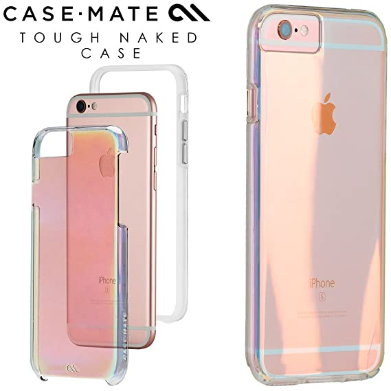 new style 30a56 1c90e Case-Mate Naked Tough Iridescent Case for iPhone 6 Plus & 6s Plus CM034501