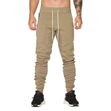 VPASS Pantalones Hombre, Pantalones de harén Moda Pop Color Sólido ...