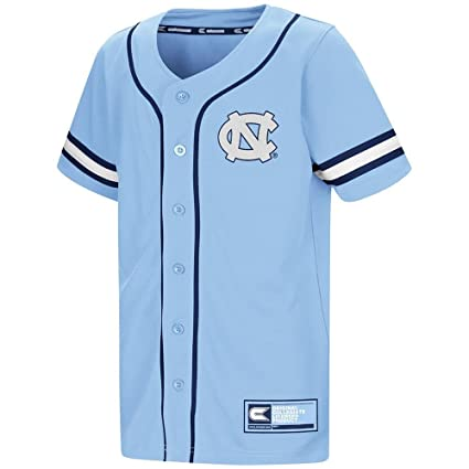 2c6f931e1412 Amazon.com  Colosseum Youth UNC Tar Heels Baseball Jersey - L ...