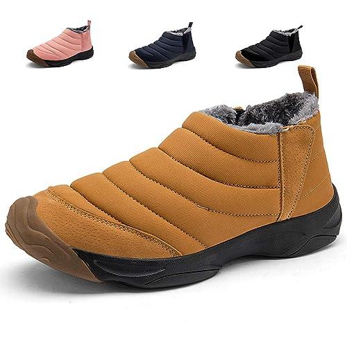 Hishoes Zapatos Botas de Nieve Hombre Mujer Ligero Botines De Invierno Cortas Fur Aire Libre Botas Impermeable Bota de Invierno Zapatos Calientes: ...