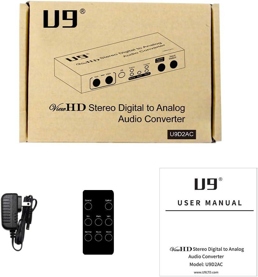 U9 ViewHD Latest 192KHz DAC Stereo Digital to Analog Audio ...