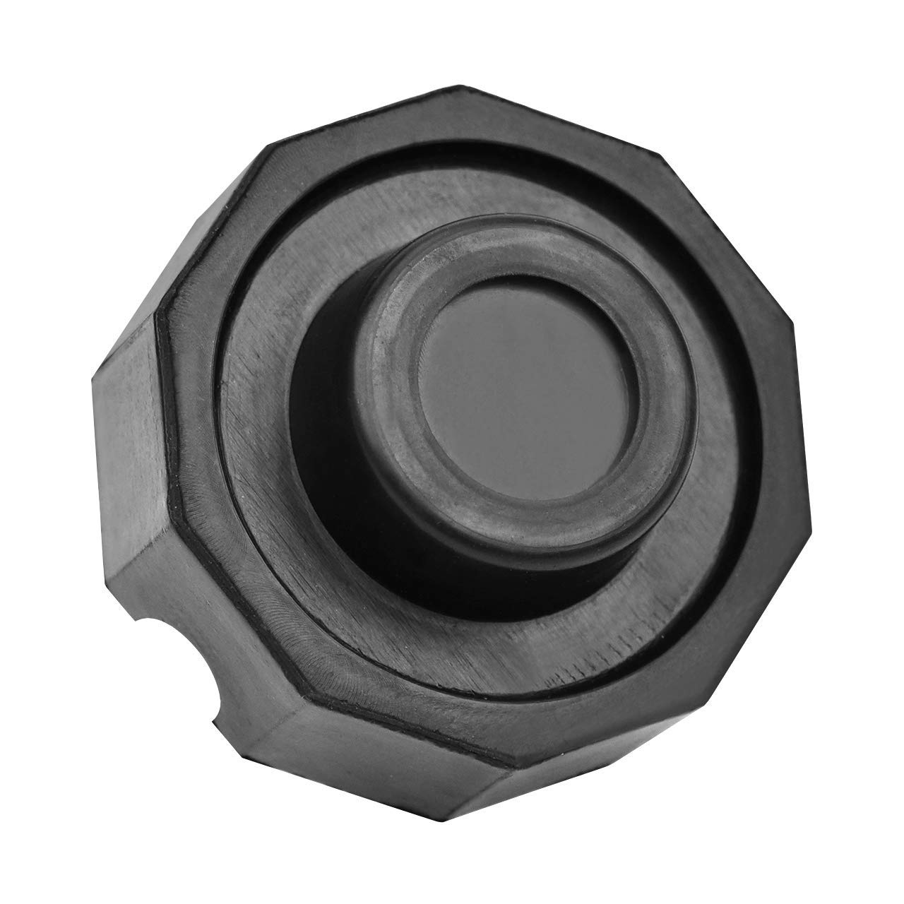 DEDC 2 Pack Jack Pad Slotted Frame Rubber Pad Universal Round Pad More Stability Support