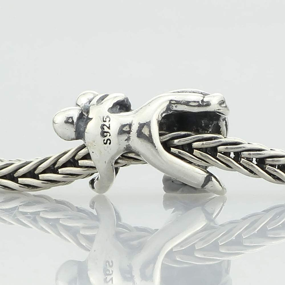 Calvas 925 Sterling Silver Dancing Charm Beads Fit European 3.0mm Bracelet Jewelry Genuine