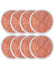 BlueStars 8 Pack 2124,2039A,2307,23157,20391,20399 Replacement Mop Pads Compatible with Bissell Spinwave Hard Mop Cleaner(Orange)