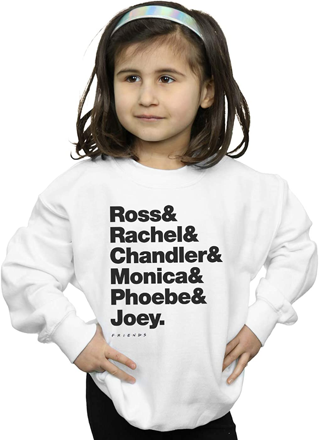 Absolute Cult Friends Girls First Names Text Sweatshirt