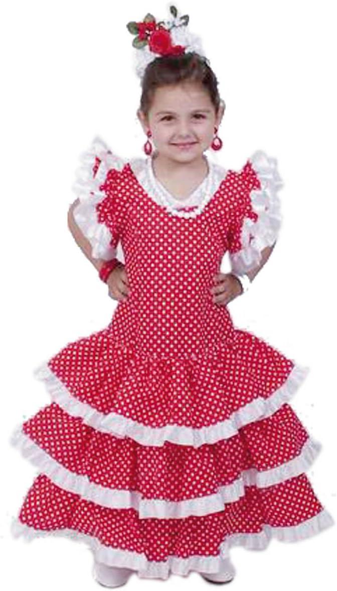 El Carnaval Disfraz sevillana niña Talla de 2-4 años