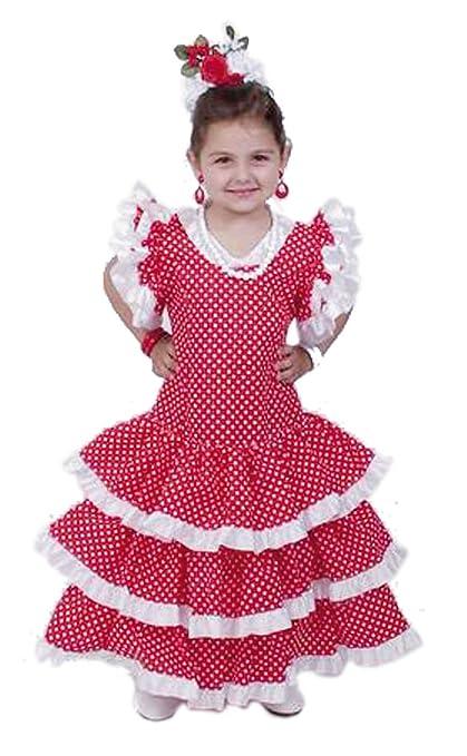 EL CARNAVAL Disfraz Sevillana niña Talla de 8 a 10 años: Amazon.es ...