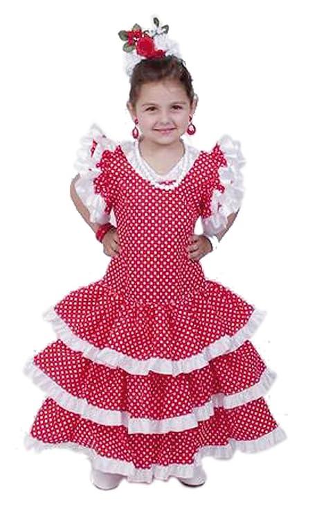 El Carnaval Disfraz sevillana niña Talla de 2-4 años: Amazon.es ...