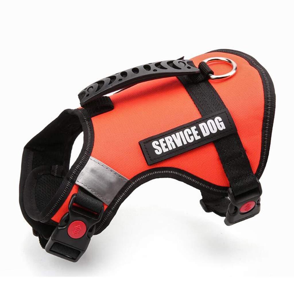 orange S orange S GWM Leashes Pet Harness, Chest Belt, Vest, Medium Dog, Large Dog, Explosion Proof,Refletive, Dog Harness (color   orange, Size   S)