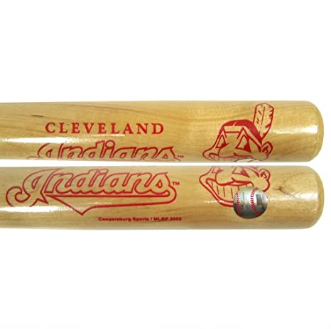 Amazon.com : MLB Cleveland Indians Mini Baseball Bat, Multi, 18 ...