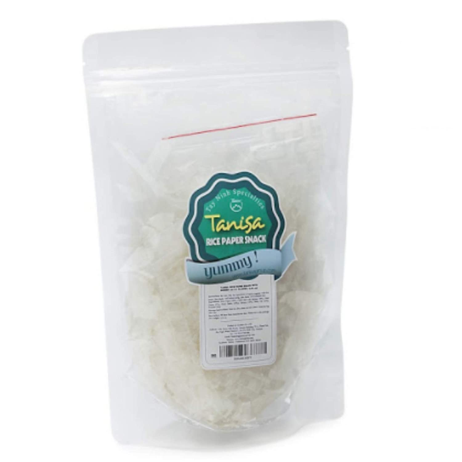 Rice paper snacks from TANISA, ingredients to mix rice papers salad, DIY mixture of rice paper fibers with seasonings - Vietnamese famous street food - Banh trang tron (Pure pack, 1 pack-80g)