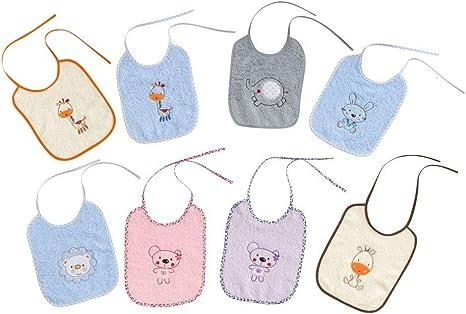 Pack 12 Baberos Rizo Color 20x25 cm: Amazon.es: Bebé