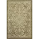 Maples Rugs Area Rugs – Pelham 5′ x 7′ Non Slip Large Rug [Made in USA] for Living Room, Bedroom, and Dining Room, Khaki For Sale