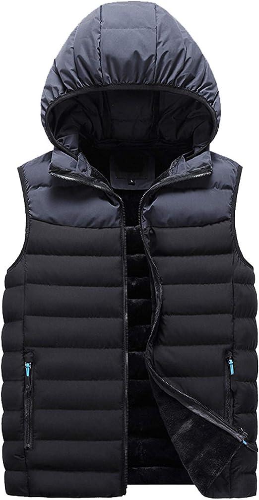 メンズ コート 中綿ジャケット 袖なし ジップアップ 冬コート フード付き 防寒対策 防風 カジュアル 秋 冬 厚手 軽量 ウルトラライト 無地 アウトドア スリム 秋冬用 超軽量 臭くない