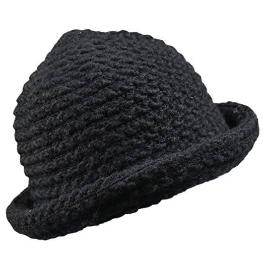 093c9dd4945 Image Unavailable. Image not available for. Color  Womens Winter Warm  Knitted Fishmen Cloche Round Top Bucket Hat Cap ...