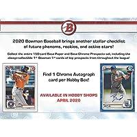 $143 » 2020 Bowman MLB Baseball RETAIL box (24 pks/bx)