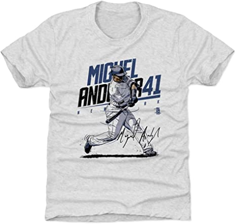 Camisa de béisbol para niños Miguel Andujar New York, 500 Letras - A-C-UKDTTRA-XX-0060-034-02-BAZ, Atlético, X-Small (4-5 años), Tri Ash: Amazon.es: Deportes y aire libre