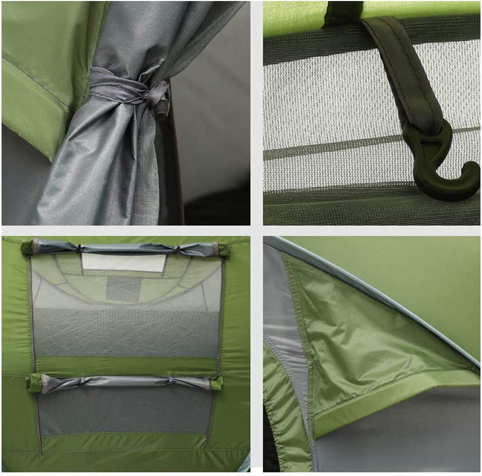 Carpa Plegable Impermeable Camping Al Aire Libre Carpas Plegables Portátiles A Prueba De Suciedad para Viajes Senderismo Velocidad Abrir Instantánea Popup Beach Ducha 2-3 Green