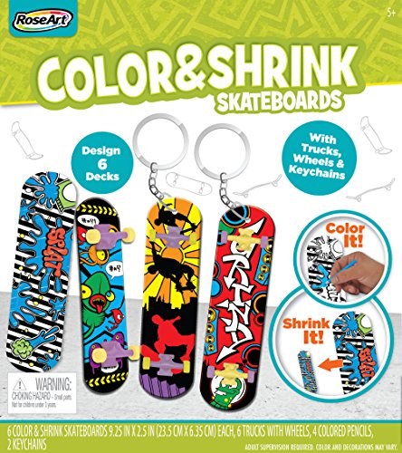 RoseArt Color N Shrink Skateboards