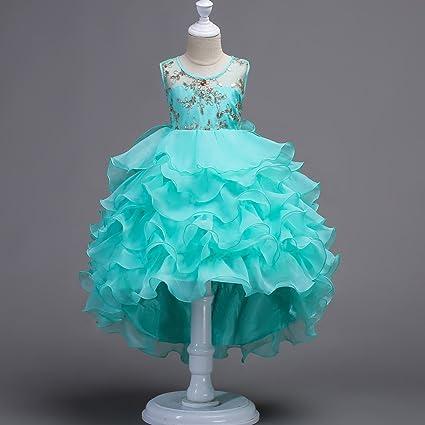GHTWJJ Vestidos De Noche De Niña Vestido De Fiesta De Princesa De Boda para Niña Vestido