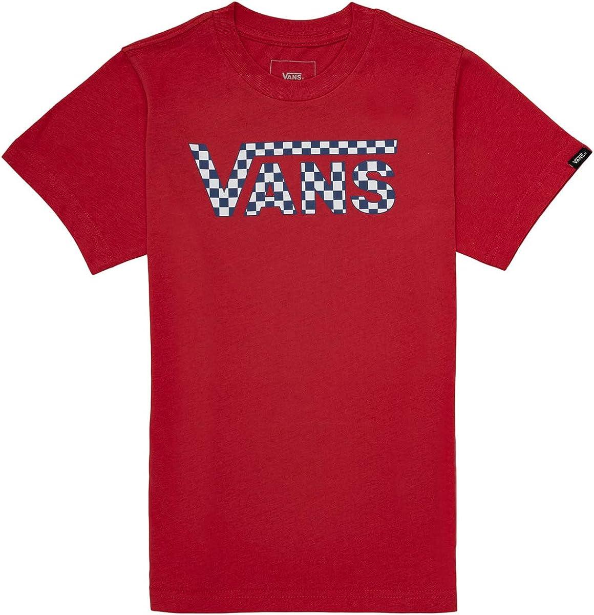 Camiseta Vans Fill Rojo para Niño: Amazon.es: Ropa y accesorios