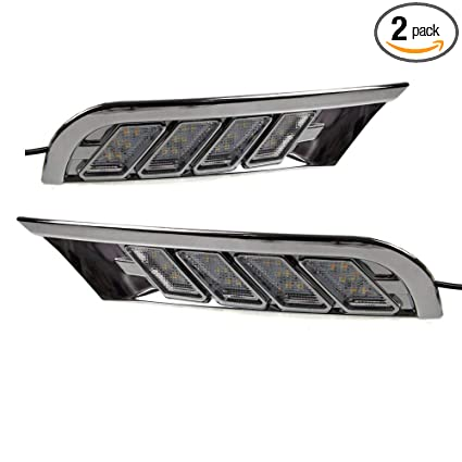 Amazoncom Auptech Off Road Daytime Running Lights Led Drlyellow