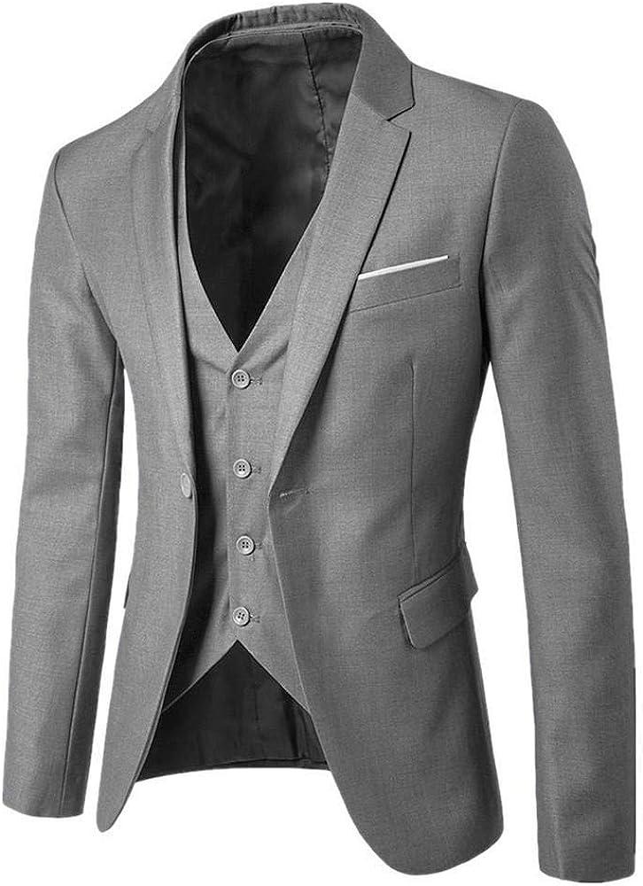 Logobeing Trajes de Hombre para Boda Slim Suit Chaqueta Delgada de ...