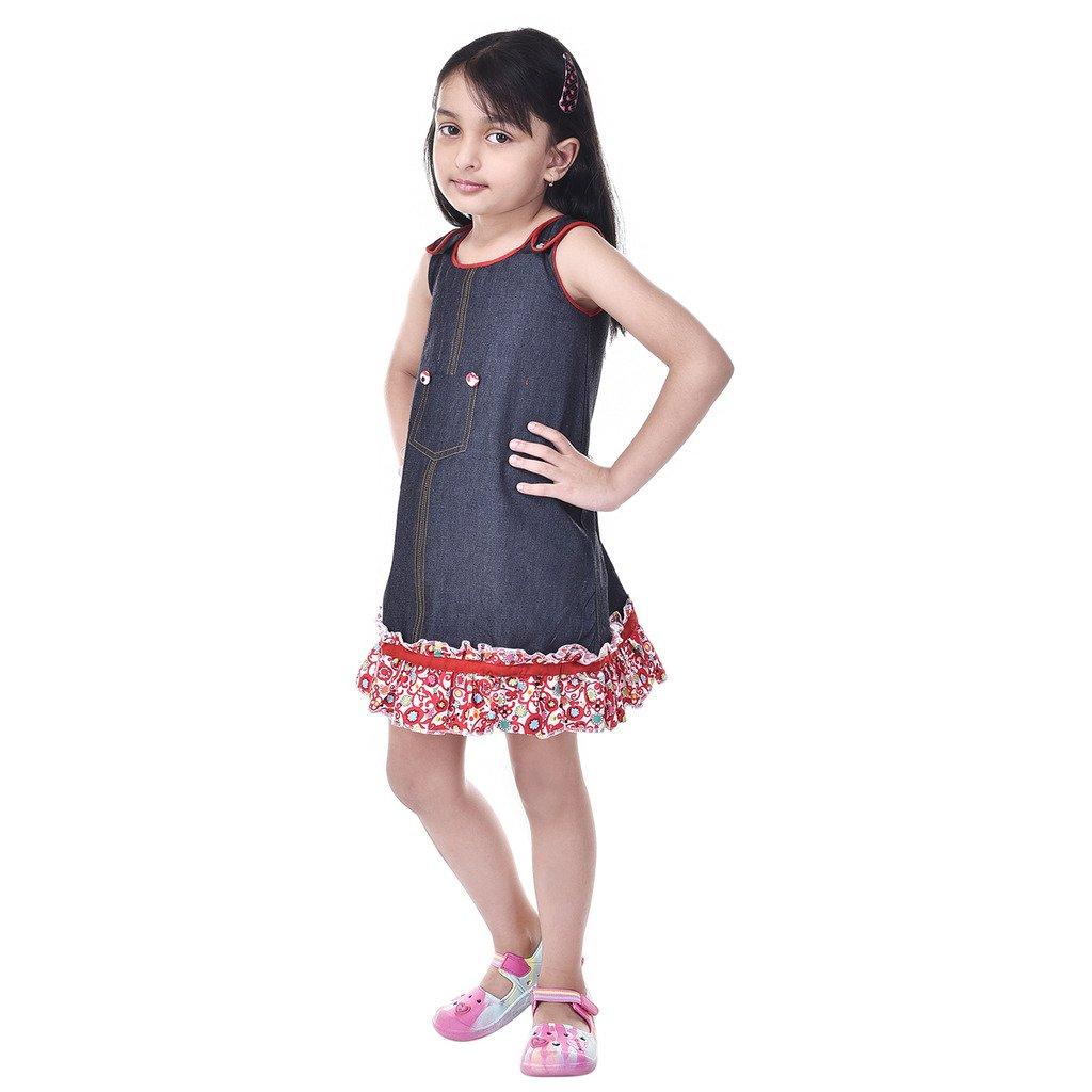 db4f9f4f4 GOODWILL Girls  Dress (Blue)  Amazon.in  Clothing   Accessories