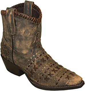 product image for Abilene Women's Rawhide Sanded Western Booties Snip Toe - 5074