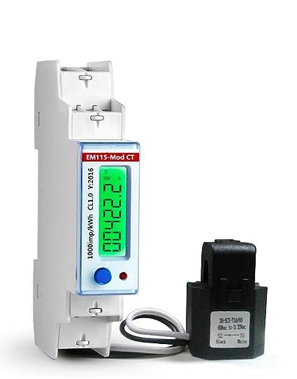 b5de0668709c59 Smart KWh meter 120V USA Mkt. 100 Amps. Single phase 2 wires Energy  anylizer with Modbus RTU - - Amazon.com