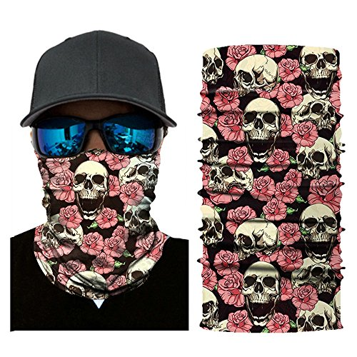 Hohaski Cycling Riding Running Headbands, 3D Seamless Neck Gaiter Shield Scarf Bandana Face Mask Seamless UV Protection Headband (G) by Hohaski (Image #2)