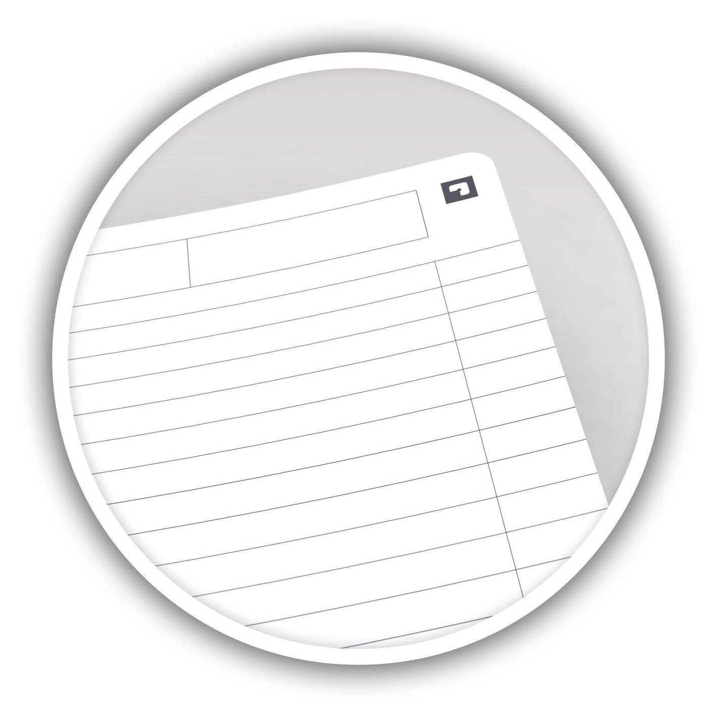 Petits carreaux Couleurs Assortis Oxford Essentials Lot de 5 Cahier /à spirales A5