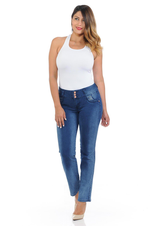 Pasion Women's Jeans · Push Up · Bootcut · Amazing Fit · Style PJ5-P-C756-LW · Blue · Size 0
