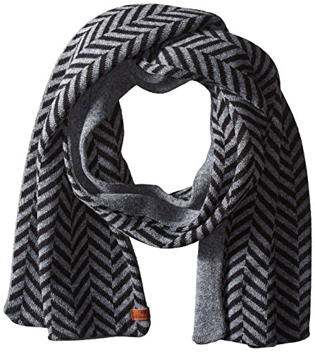 Ben Sherman Men's 2 Sided Chevron Marl Knit Scarf
