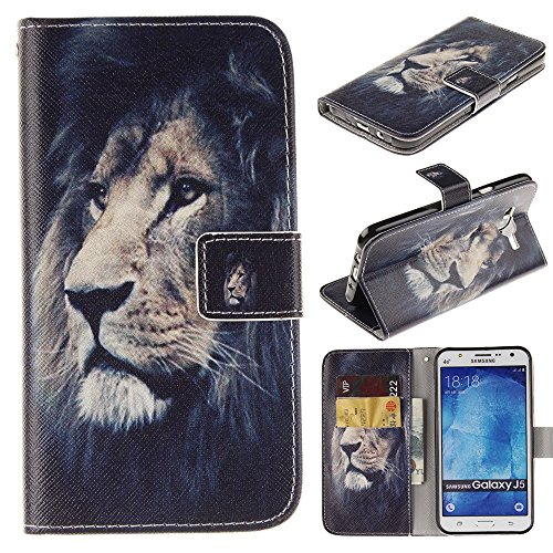 e Prime G360 Kickstand Case,Bat King Pu Leather Case Magnet Wallet Credit Card Holder Flip Kickstand Cover Case for Samsung Galaxy Core Prime G360[Majestic Lion] ()
