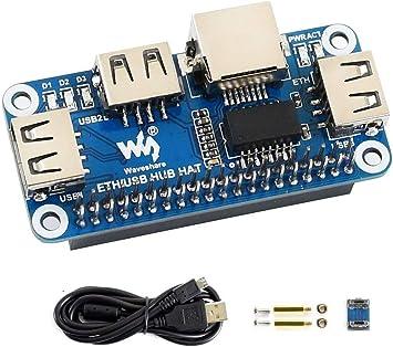 4 Port USB HUB HAT Expansion Board For Raspberry Zero//Zero W//3B+