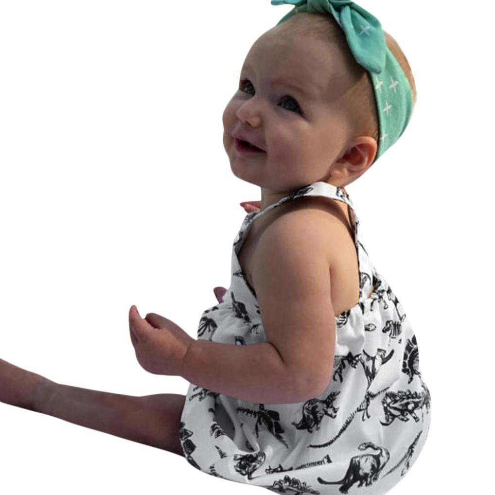 Baby Clothes, HEHEM Toddler Infant Baby Girls Dress Cartoon Dinosaur Print Dresses Clothing Outfits Kids Clothes Newborn Baby Boy Clothes Unisex Baby Clothes (0.5-3 year) Fashion Small fresh Feminine charm