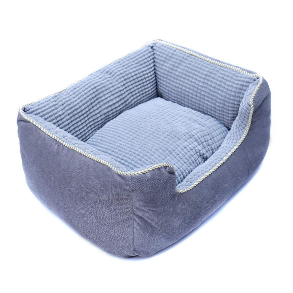 756225cm DUHUI Rectangle Warming Pet Bed, Cat and Dog, Short plush, PP cotton (Size   75  62  25cm)