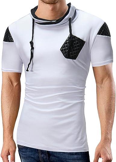 Fannyfuny camiseta Hombre Camisa Elástica de Fitness Tank Top Gym Fitness Muscle Camisetas Verano Deporte Polo Manga Corta Culturismo Bolsillos de Secado Ajustado: Amazon.es: Ropa y accesorios