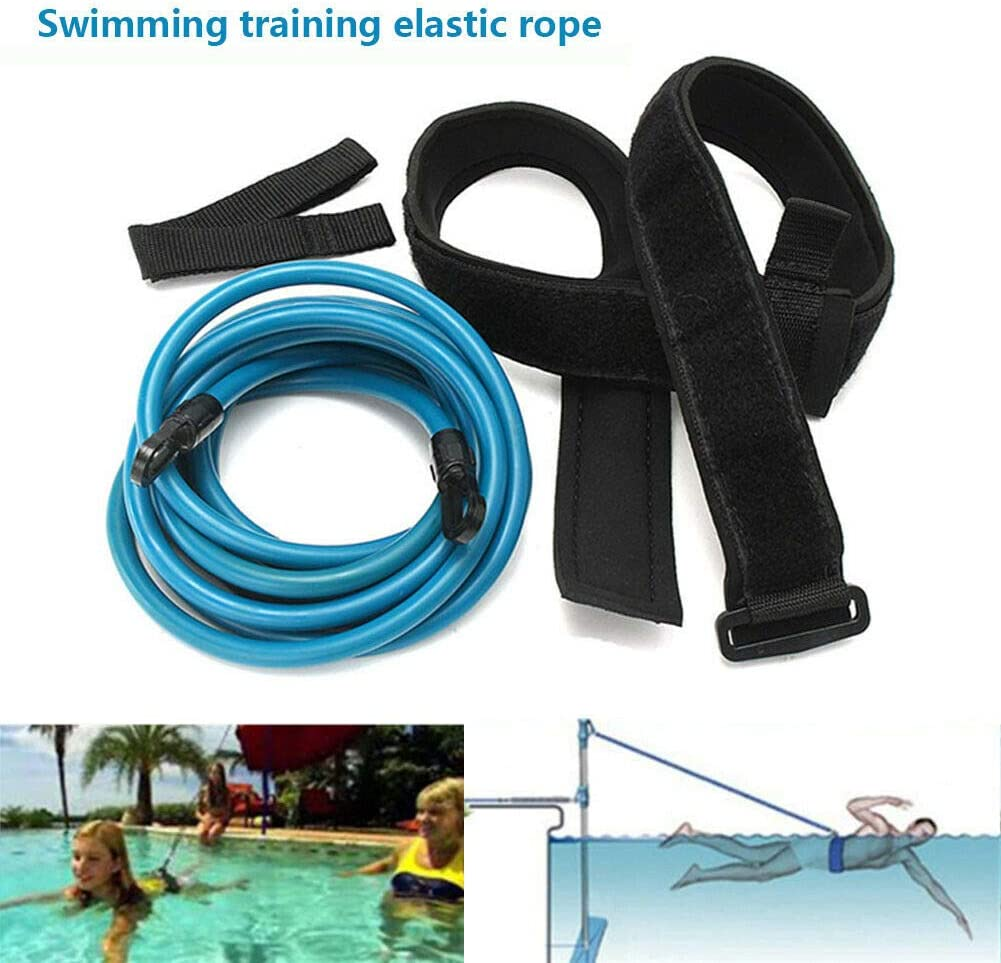 Youzpin Swimming Training Belt,Pool Resistance Training Leash,Swim Belt Safety Pool Swimming Trainer