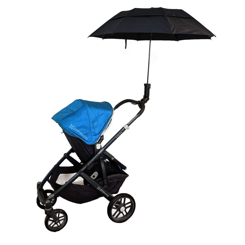 Removable Umbrella Holder & Umbrella by Banana Leaf Designs (Black, Universal Mount + Umbrella)