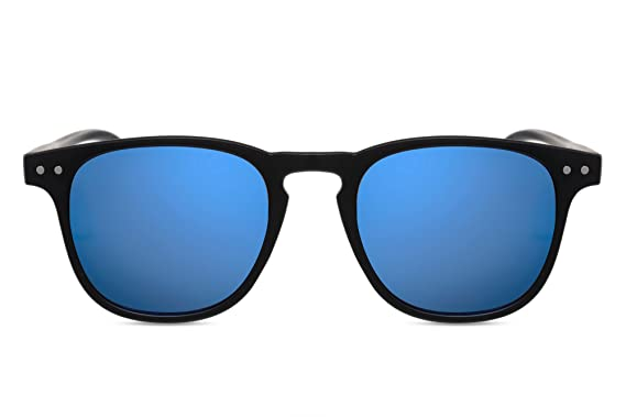 03d333b3cafc9b Cheapass Sunglasses Round Black Blue Mirrored UV-400 Rectangular Designer- Glasses Hipster Accessory Women Men  Amazon.co.uk  Clothing