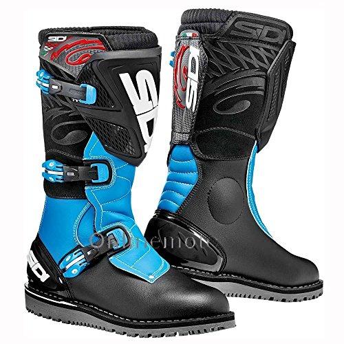Sidi Trial Zero 1 Black/Light Blue Motorcycle Boot