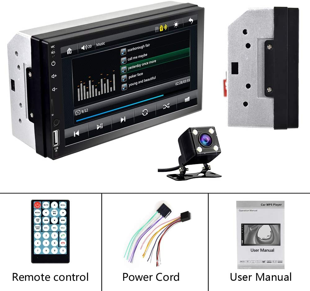 EKAT Double Din Car Stereo Support Mirror Link D-Play for Android ...