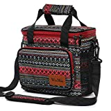 WinMax Lunchbox for Women,Reusable Lunch Bag Insulated Cooler Box Prep Lunch Tote To-Go Work Food Container with Shoulder Strap Large and Cute - Bohemian Style