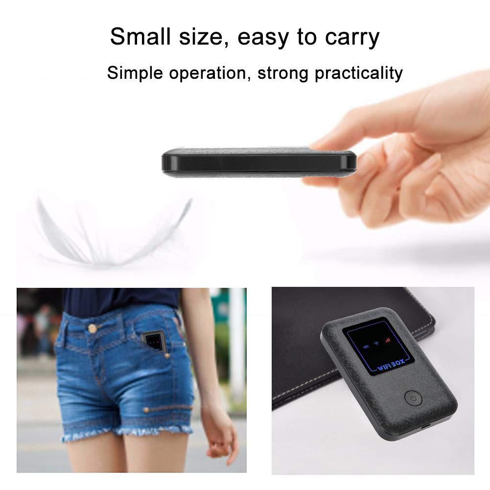 ASHATA Mini Enrutador Inal/ámbrico 4G Port/átil,4G M/ódem USB Adaptador de Red WiFi Mobile Hotspot Router Pocket para Tel/éfonos M/óvil Inteligentes,Tableta o Computadora,etc Negro