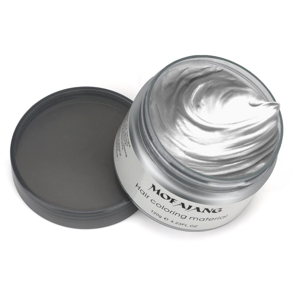 Mofajang Hair Wax Dye Styling Cream Mud, Natural Hairstyle Color Pomade, Washable Temporary, Gray by MOFAJANG (Image #3)