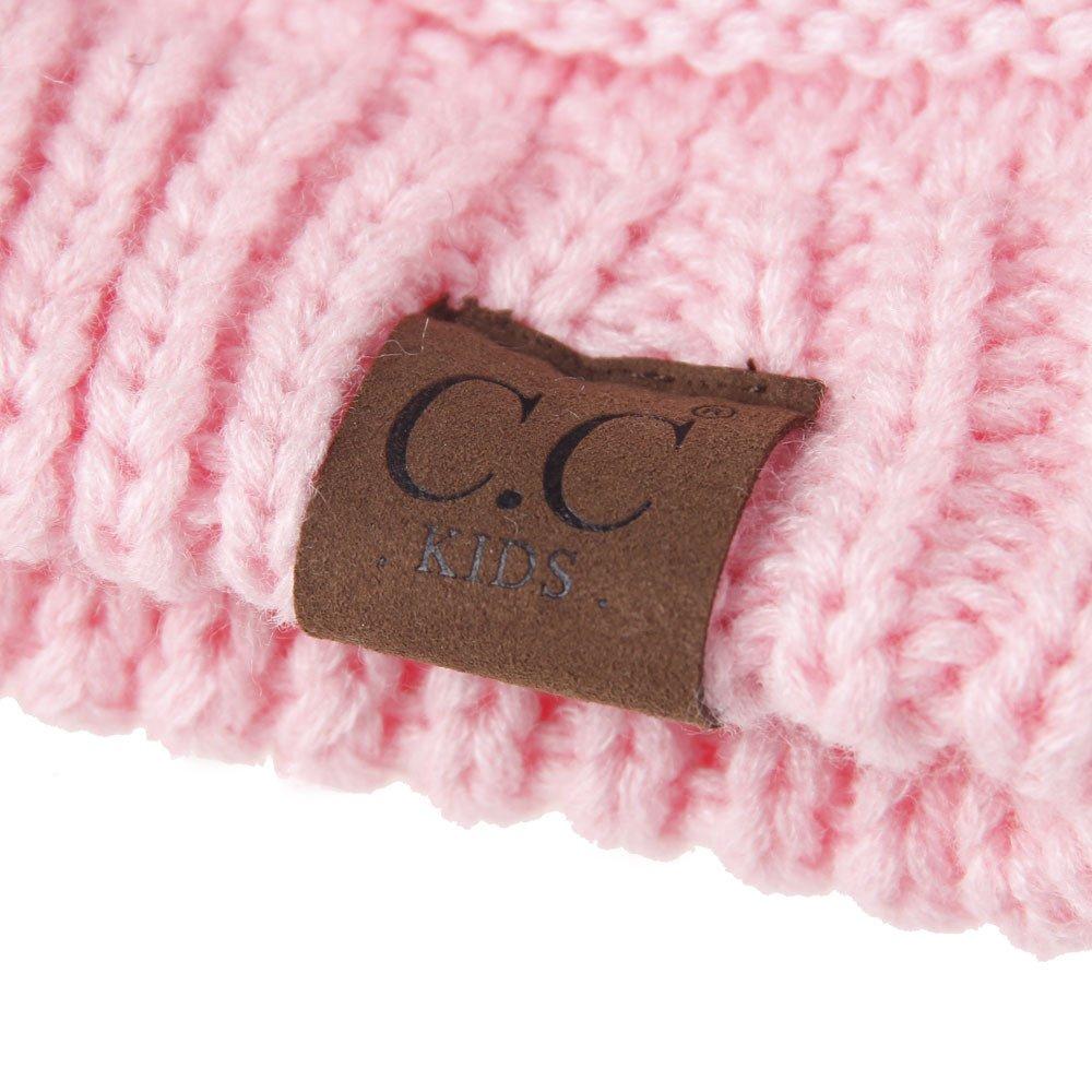 MIOIM Baby Boys Girls Winter Warm Wool Knitting Hat Pompom Bobble Ski Cap Beanies S23078806